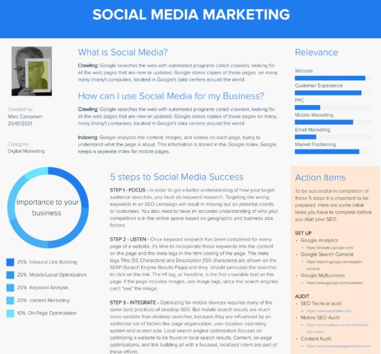 Social Media Marketing Folio